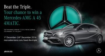 Beat the Triple – Cum să câștigi un Mercedes-AMG A 45 4MATIC?
