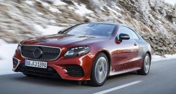 Mercedes E-Class Coupe 2017 încă nu a fost dezvăluit, dar a ieșit la plimbare
