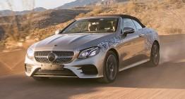 Mercedes E-Class Cabriolet 2017, primele fotografii și primul test pentru pasageri