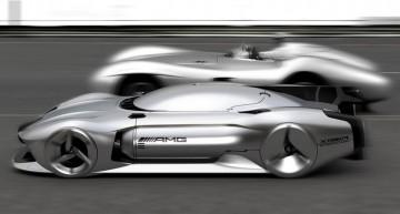 Mercedes-Benz W 196 R Streamliner pentru 2040: Concept autonom pentru 500 km/h