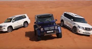 Prințul deșertului. Mercedes-Benz G500 4×4² vs Toyota Land Cruiser vs Nissan Patrol