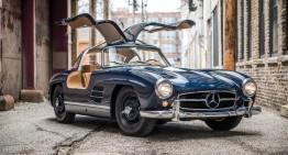 Frumusețe de vânzare! Un Mercedes-Benz 300 SL Gullwing scos la licitație