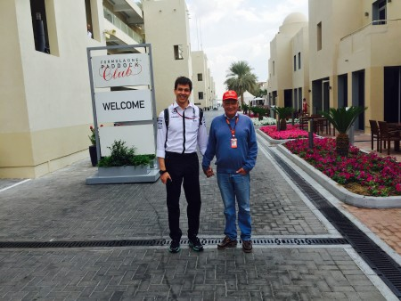 Niki Lauda and Toto Wolff holding hands