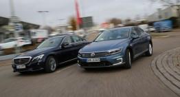 Mercedes C 350 e vs. VW Passat GTE: Modele plug-in hybrid de clasă medie la test