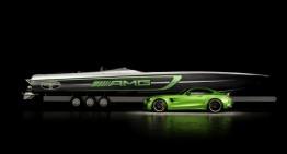 Ambarcațiunea 50' Marauder AMG Cigarette Racing, inspirată de Mercedes-AMG GT R