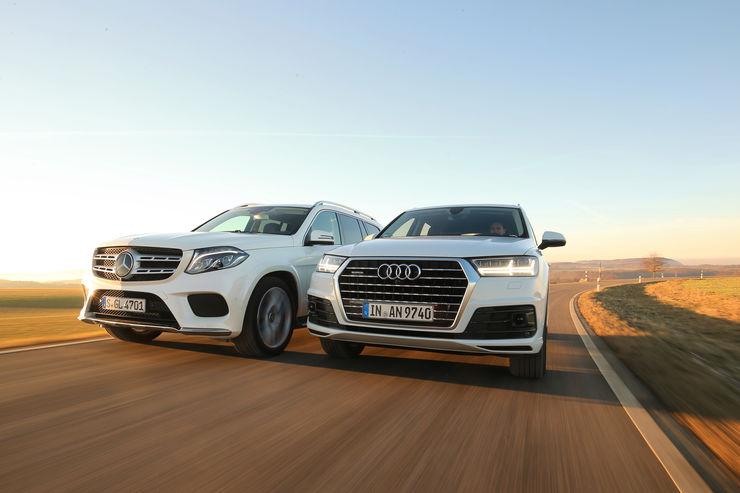 Audi Q7 3.0 TDI vs. Mercedes GLS 350 D: SUV-uri de 5 metri în test comparativ