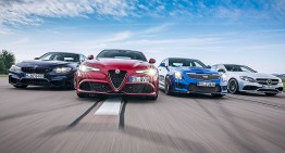 Tête-à-tête: Mercedes-AMG C 63 S versus BMW M3, Alfa Giulia QV, Cadillac ATS-V