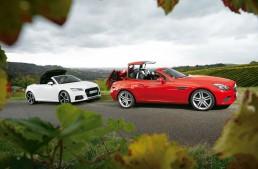 Roadstere diesel la test: Mercedes SLC 250 d vs. Audi TT 2.0 TDI Ultra