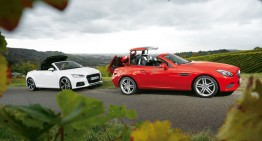 Roadstere diesel la test: Mercedes SLC 250 d vs. Audi TT 2.0 TDI Ultra
