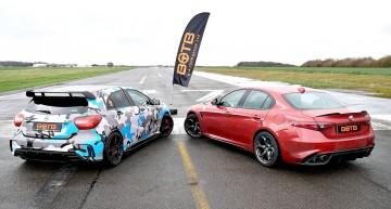 Drag race: Cum câștigă Mercedes-AMG A45 duelul cu Alfa Romeo Giulia QV