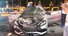 O cursă ilegală se încheie rău pentru un Mercedes A-Class!