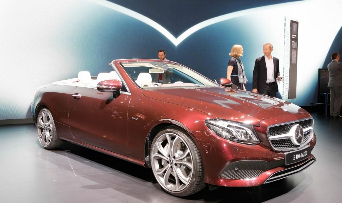 LIVE DE LA GENEVA: Faceți cunoștință cu Mercedes E-Class Cabrio