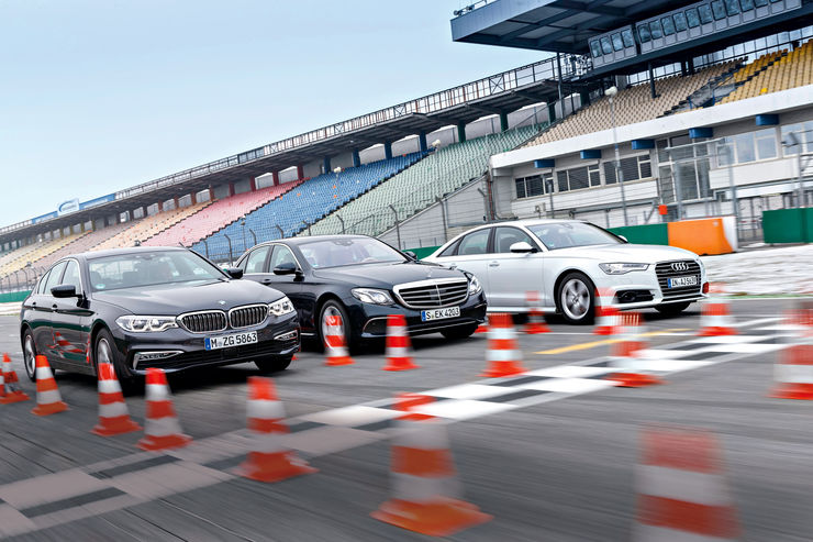 LIMUZINE BUSINESS: Mercedes E 350 d versus Audi A6 3.0 TDI Quattro, BMW 530d
