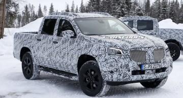 Mercedes X-Class: Pick-up-ul își arată înfățișarea de producție în timpul testelor de iarnă