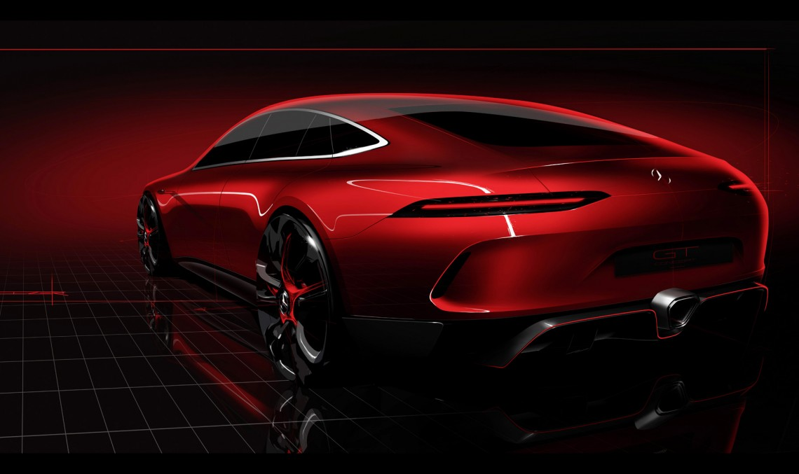 Mercedes-AMG GT 4 Concept e aici: PRIMUL TEASER