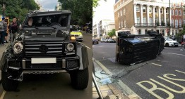 Buturuga mică răstoarnă carul mare – Mercedes-AMG Brabus G500 4×4² pus la pământ de un Prius