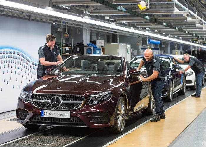 Primul E-Class Cabrio iese pe porțile uzinei din Bremen