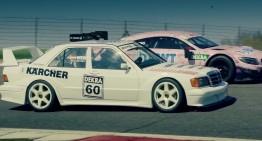 Nepotul își cunoaște bunicul! Mercedes C63 AMG DTM versus 190E EVO II DTM