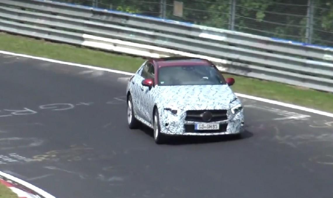 A evadat bestia – Mercedes-Benz CLS spionat la Nurburgring