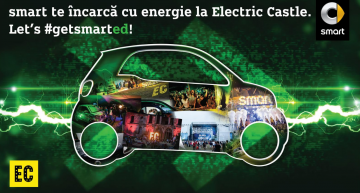 Smart electric drive este mașina oficială la Electric Castle 2017