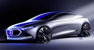 Imagine de reținut – Conceptul Mercedes EQ A arătat înaintea debutului de la Frankfurt