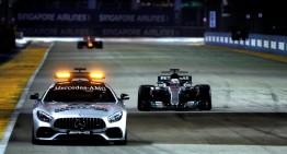 Stele norocoase în Singapore pentru Mercedes. Lewis Hamilton a câștigat după ce a pornit al 5-lea