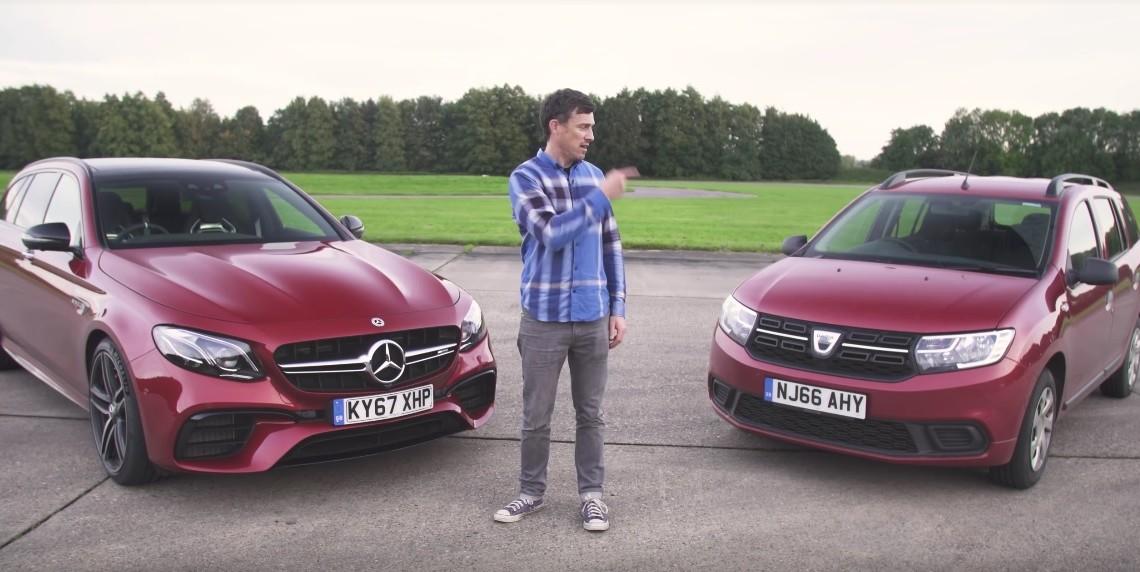 David versus Goliat? Dacia Logan MCV se ia la trântă cu Mercedes-AMG E63 S